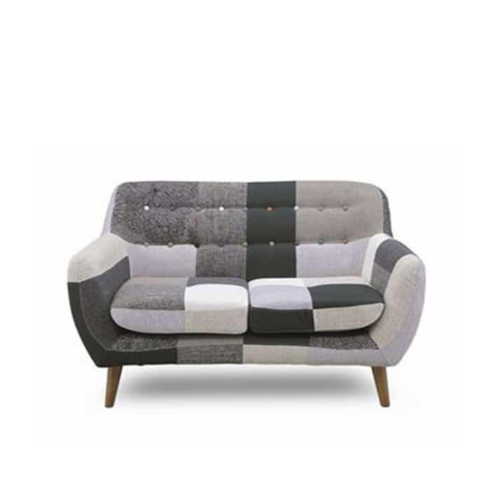 2人掛けソファー ヨランダ(モノ):◆パッチワーク柄がおしゃれなデザインソファーです。