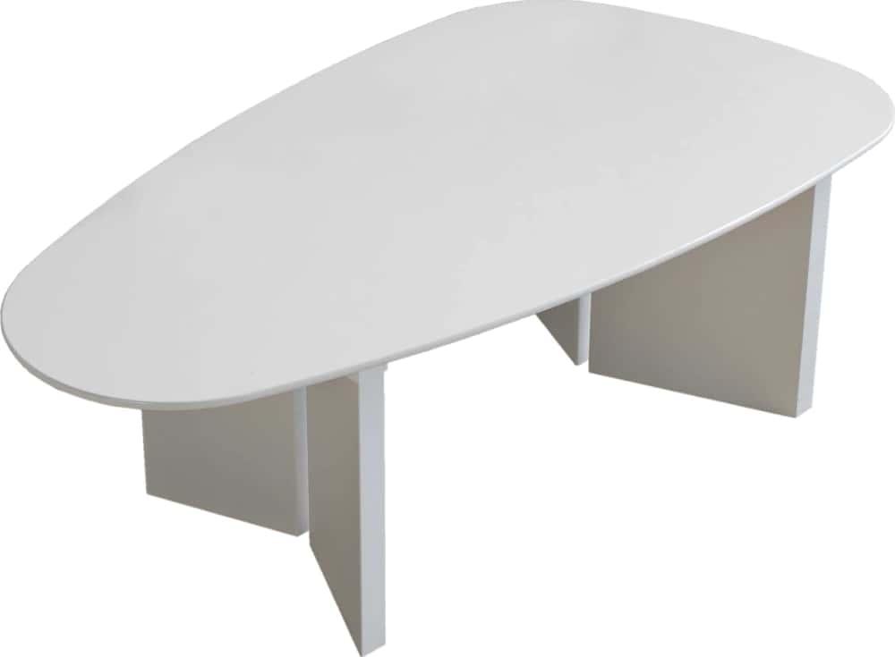 リビングテーブルロペ Lテーブル(三角)−RWホワイト:リビングテーブル
