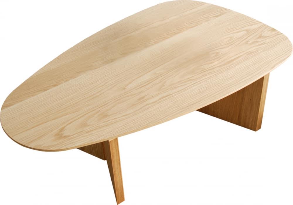 リビングテーブルロペ Lテーブル(三角)−ONナチュラル:リビングテーブル