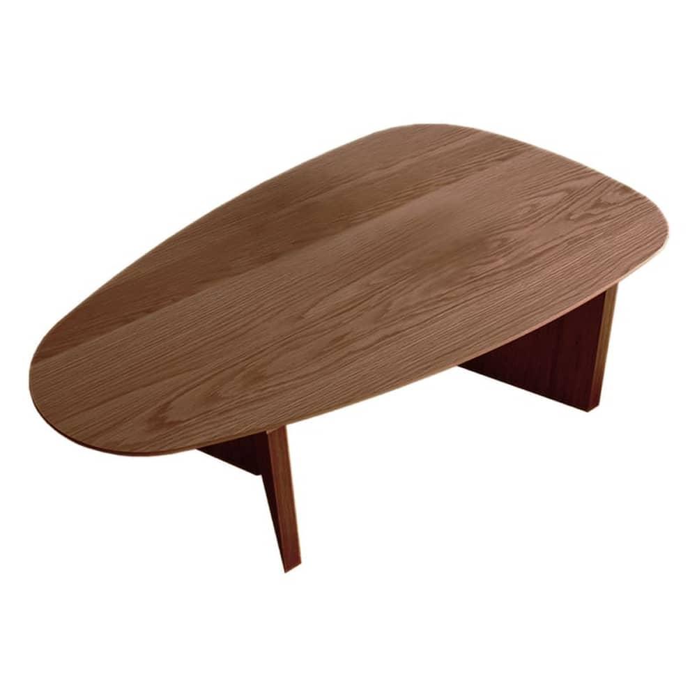 リビングテーブルロペ Lテーブル(三角)−RNブラウン:リビングテーブル
