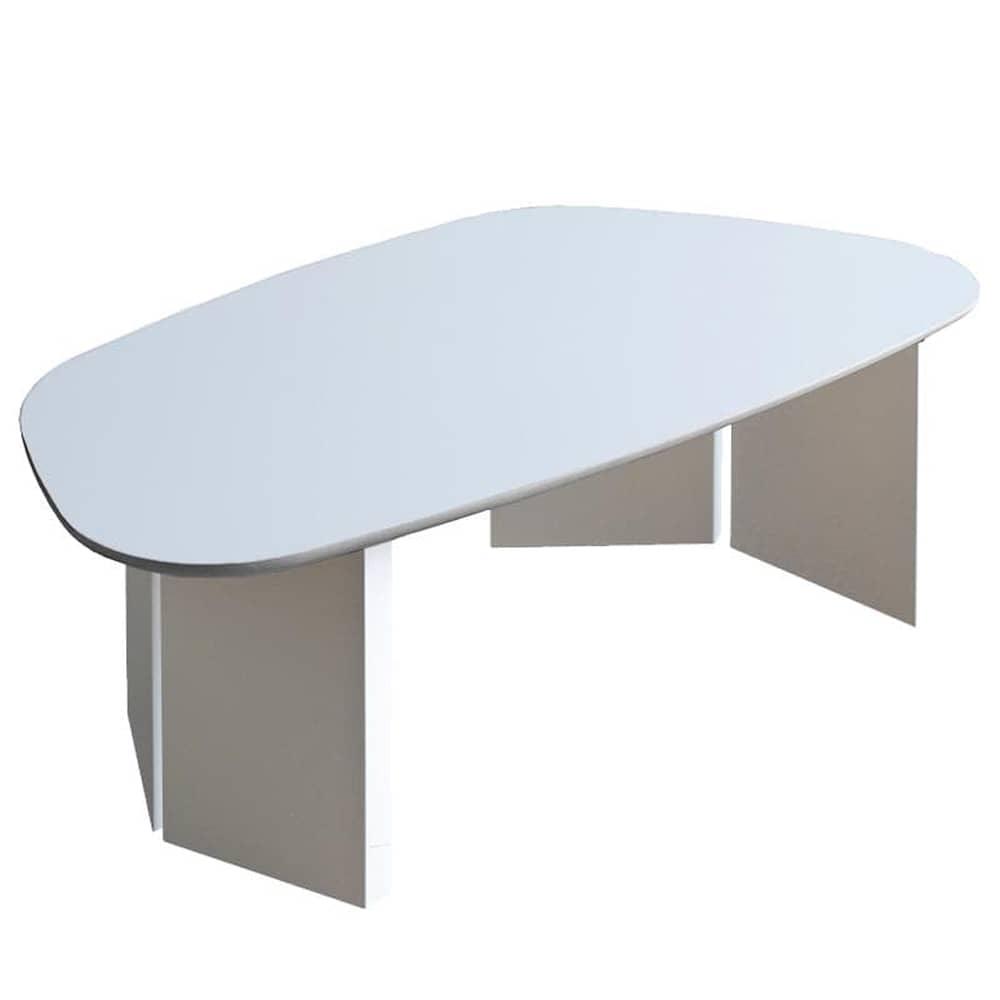 リビングテーブルロペ Lテーブル(台形)−RWホワイト:リビングテーブル