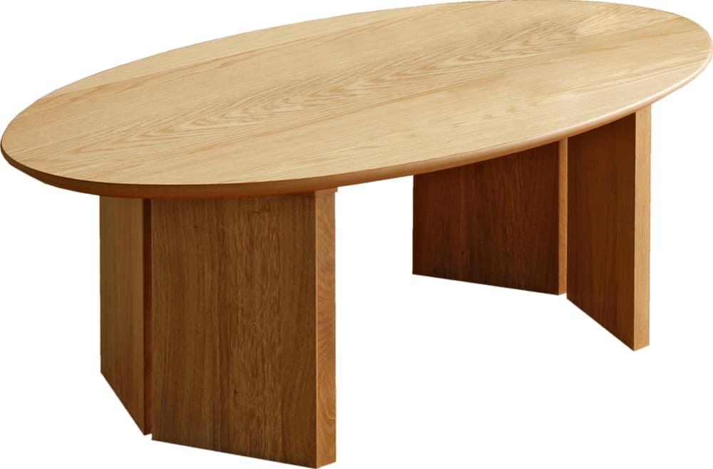 リビングテーブルロペ Lテーブル(楕円)−ONナチュラル:リビングテーブル