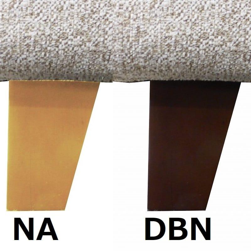 シェーズロングソファー右カウチ ハイタイプ 硬さレギュラー 張地CHBE脚色NA Foam04:フロアに合わせた色をチョイス