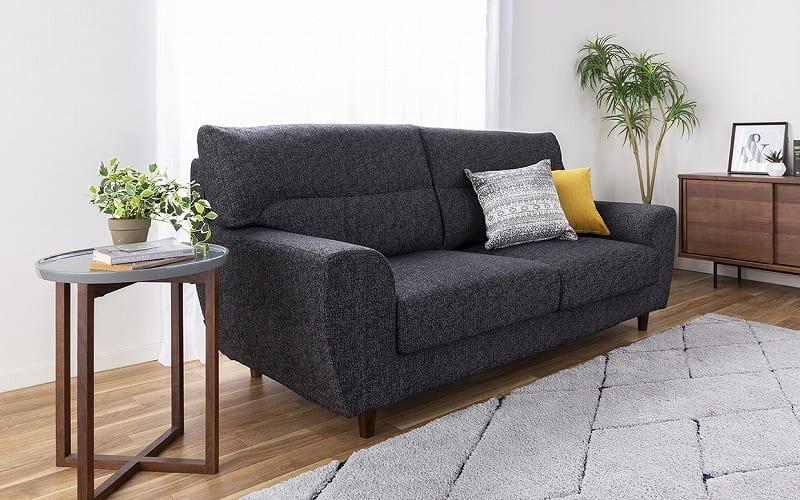 2.5人掛けソファー ハイタイプ 硬さハード Foam05:丸みを帯びた優しいデザイン