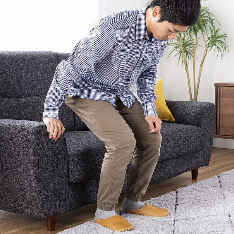 2.5人掛けソファー ハイタイプ 硬さハード Foam05:選べる座面の高さ