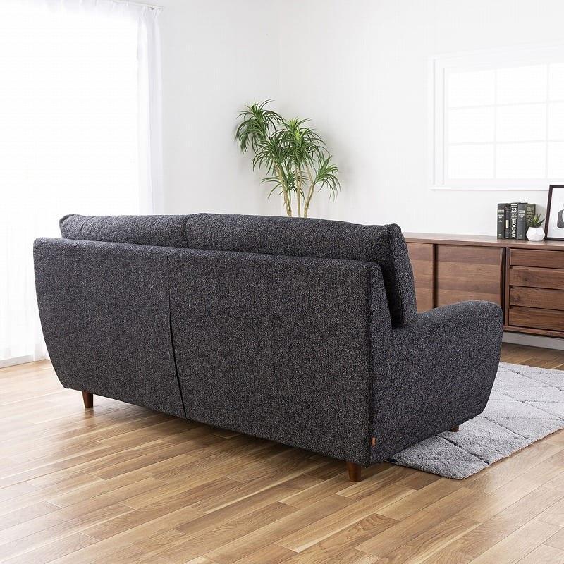 3人掛けソファー ハイタイプ 硬さレギュラー Foam05 CHCH:背面から見てもすっきりしたデザイン