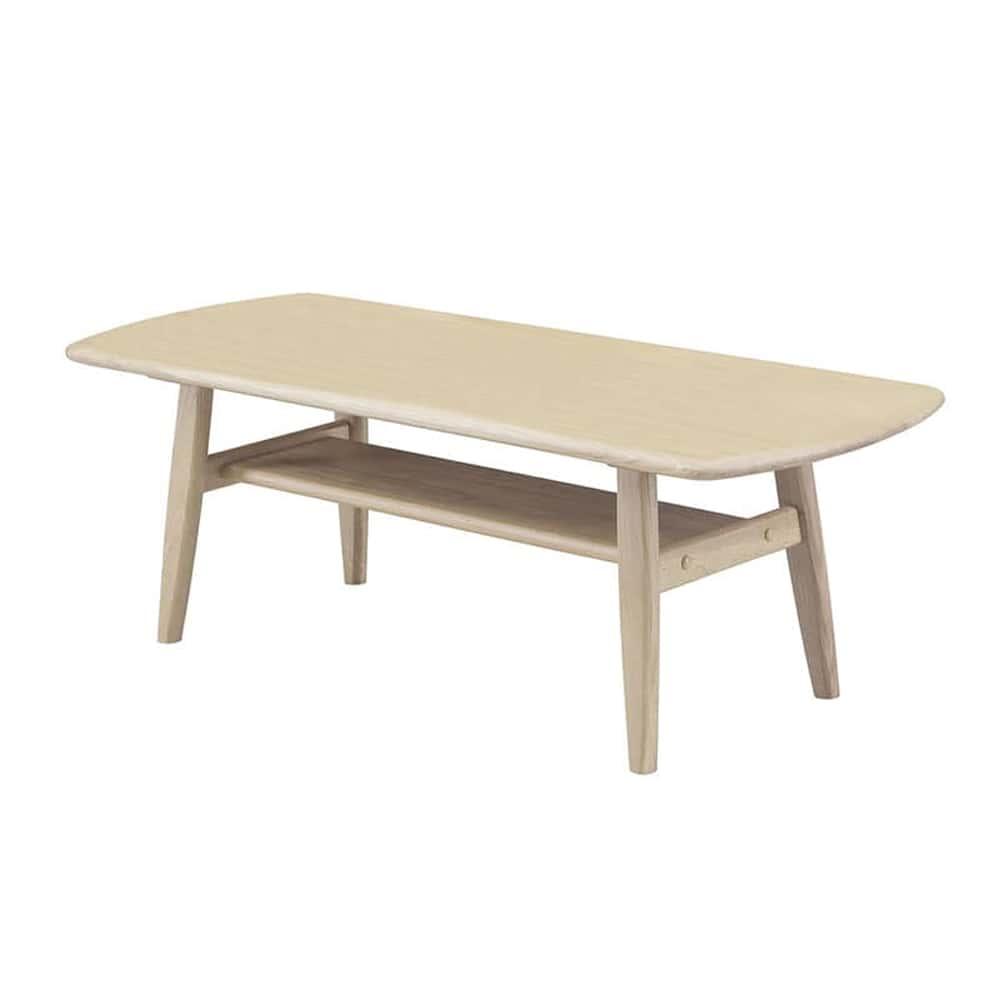 リビングテーブル クロスタイム120リビングテーブル WH:クロスタイムシリーズの優しい色使い