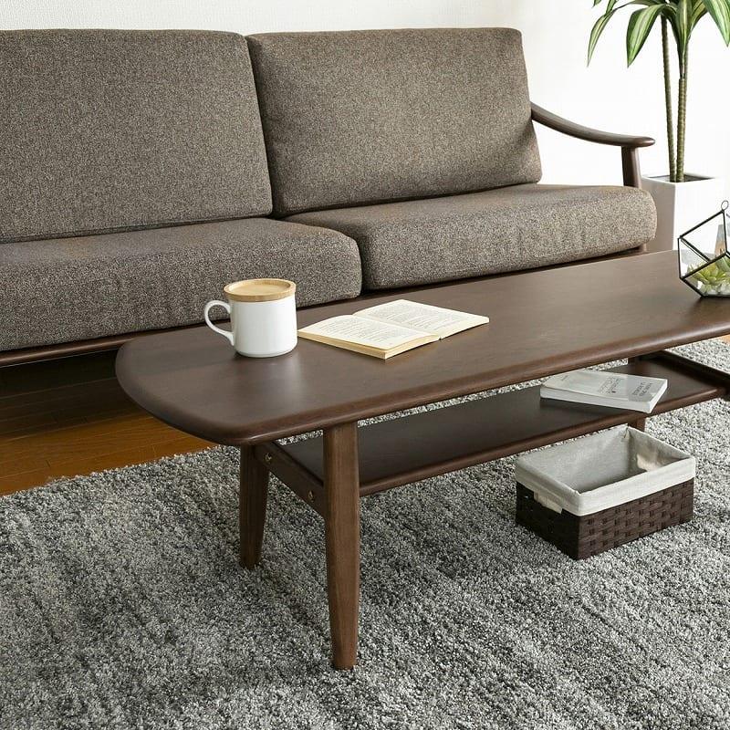 1人掛けソファー クロスタイム69ソファー 木部:MBR/生地:CHA:リビングテーブルと一緒に合わせて…