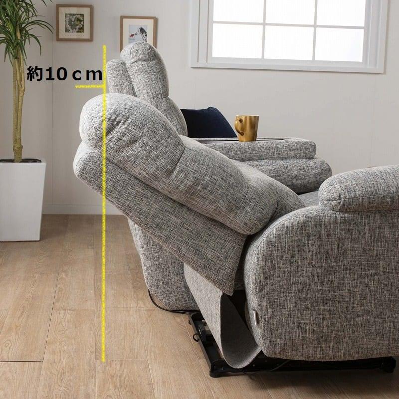3人掛け電動ソファー エルサ Dランク(C500ブラック):後ろの空間はそれほど必要ありません。