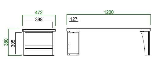 リビングテーブル MLT−171 120 NA