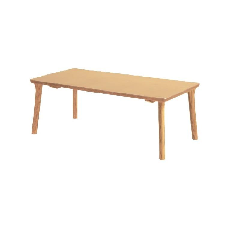 浜本工芸 センターテーブル T−8204(120×60) ナチュラルオーク:天然木ならではのあたたかみや風合いが楽しめ、シンプルで飽きのこないデザイン。