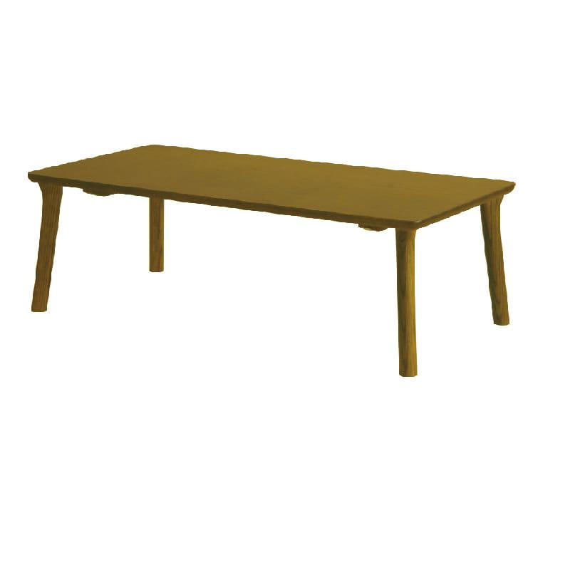 浜本工芸 センターテーブル T−8200(120×60) ダークオーク:天然木ならではのあたたかみや風合いが楽しめ、シンプルで飽きのこないデザイン。