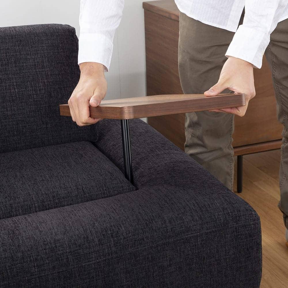 サイドテーブル グラード テーブル長方 BR色:サイドテーブル の組み替え自由