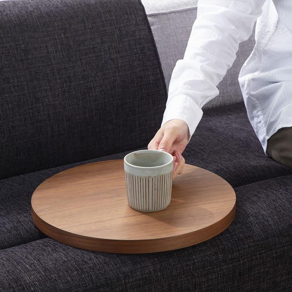 サイドテーブル グラード テーブル丸 BR色:【サイドテーブル単体商品です】その他商品は別売です