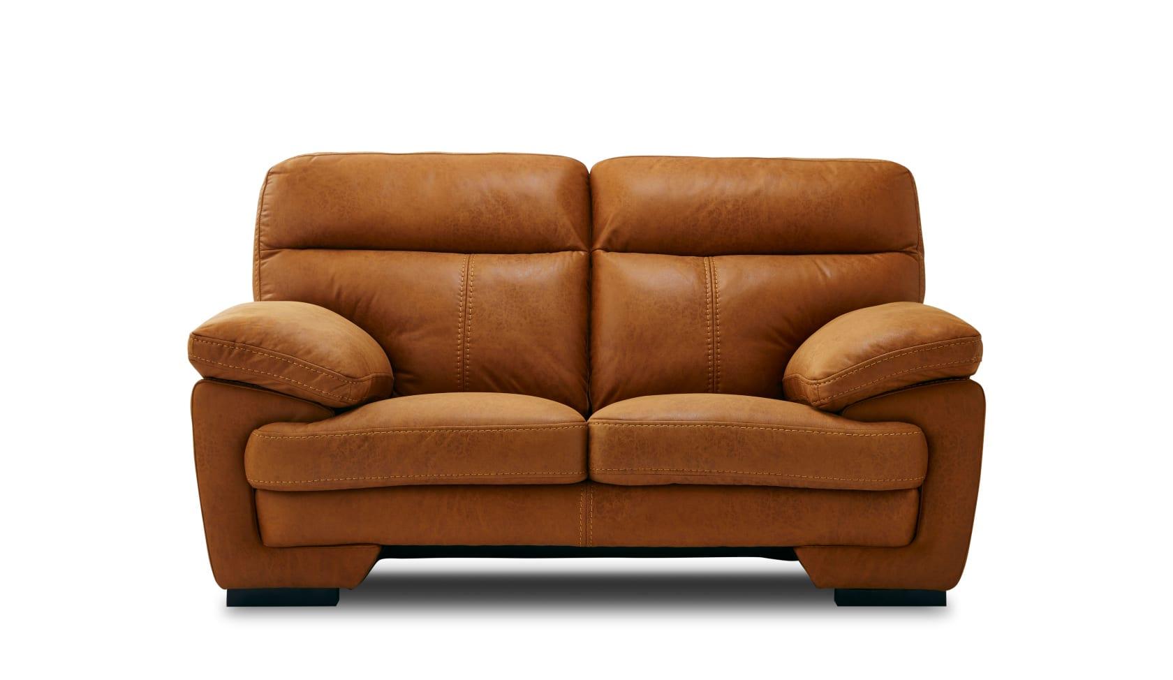 2人掛けソファー イゾラ キャメル:◆新素材「レザーテックス」を使用したソファー