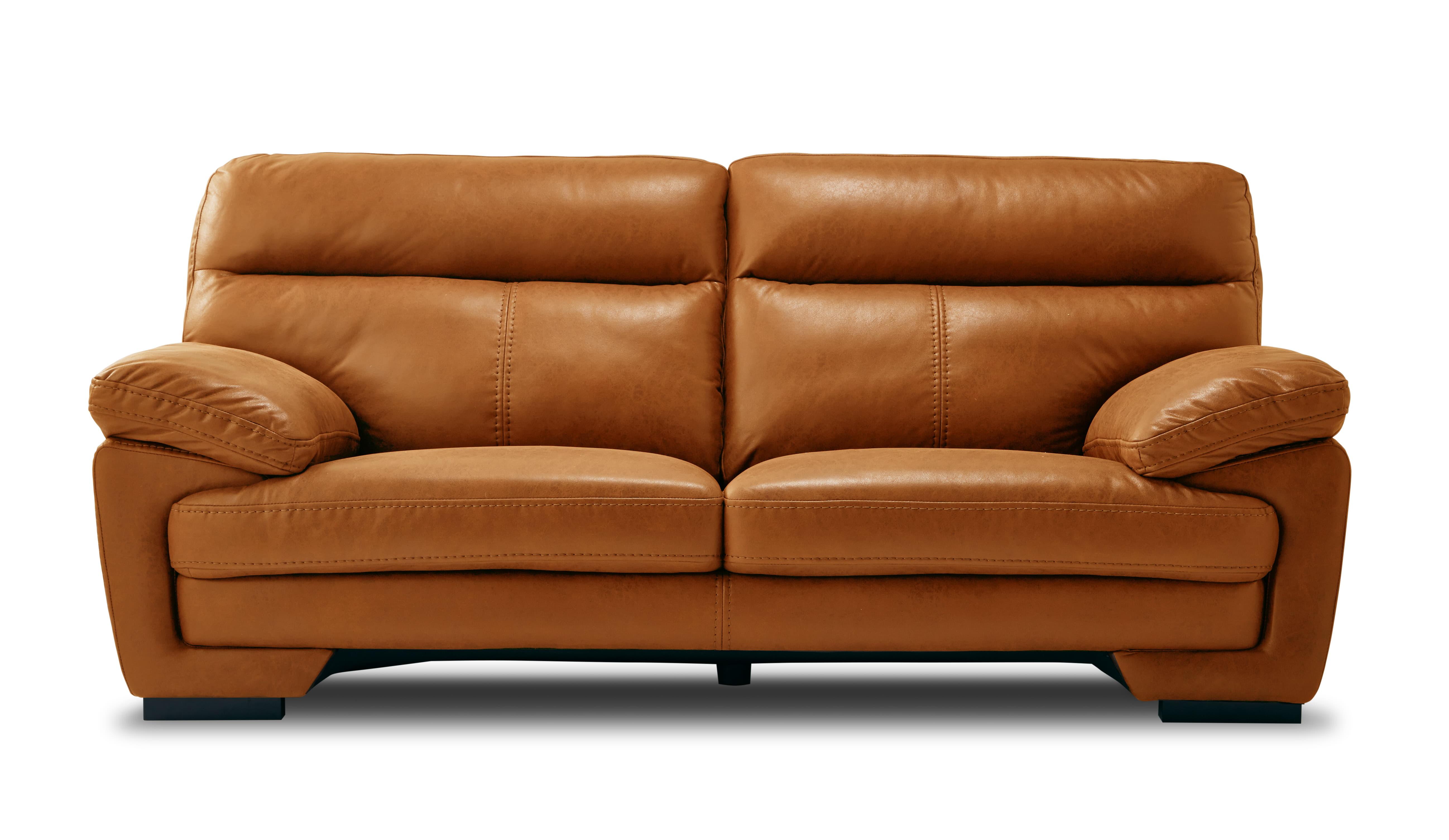 3人掛けソファー イゾラ キャメル:◆新素材「レザーテックス」を使用したソファー