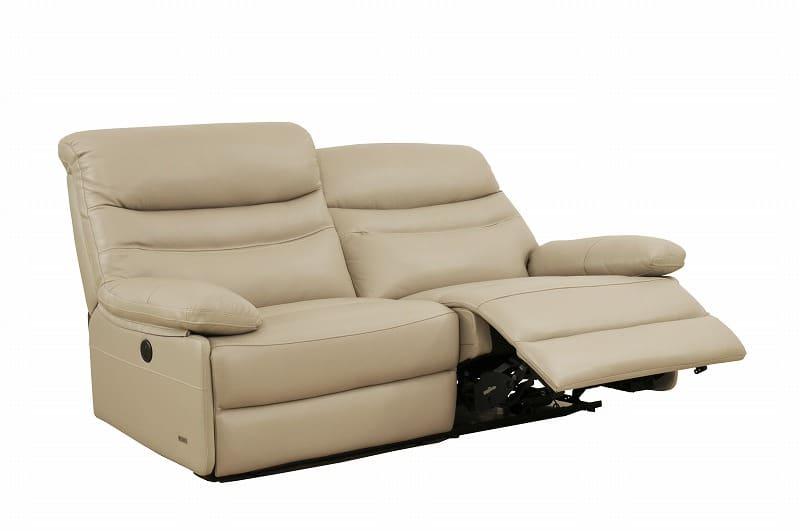 3人掛けソファー ルーク3S(2C) WH:包み込まれるような座り心地の電動モーションソファー