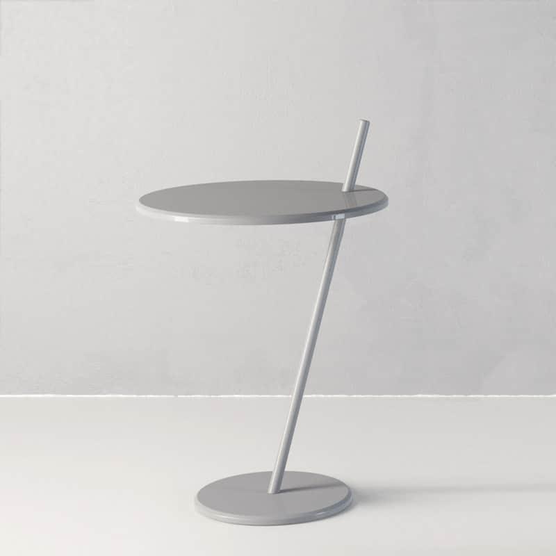 サイドテーブル グッドイブニング ペールグレー:デザイナーズセンスが光るサイドテーブル