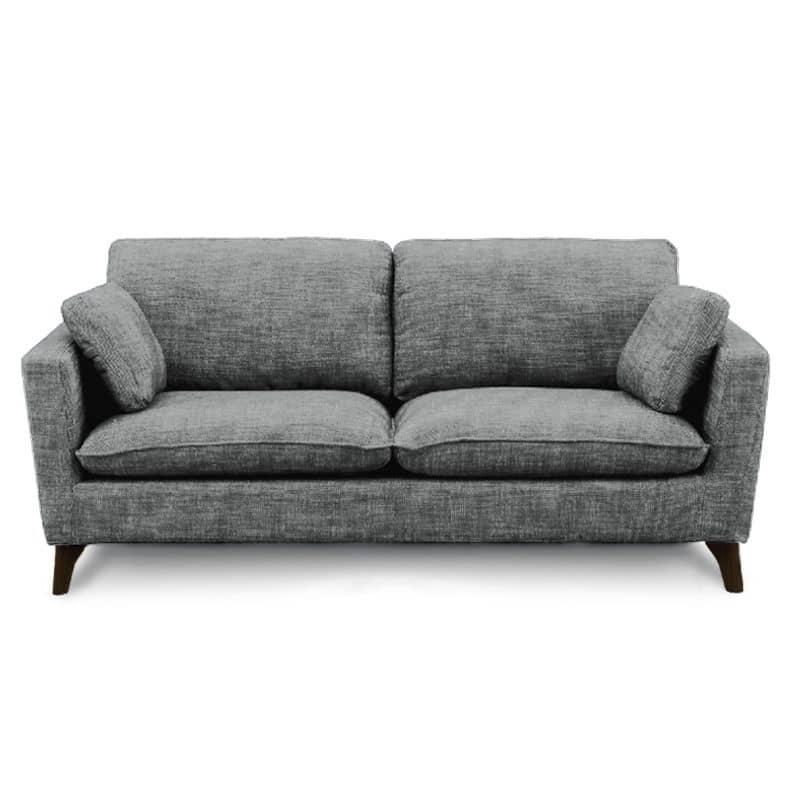 3人掛けソファー +style フィール(シルバーブラック/BR脚):シンプルでスタイリッシュなデザインソファー