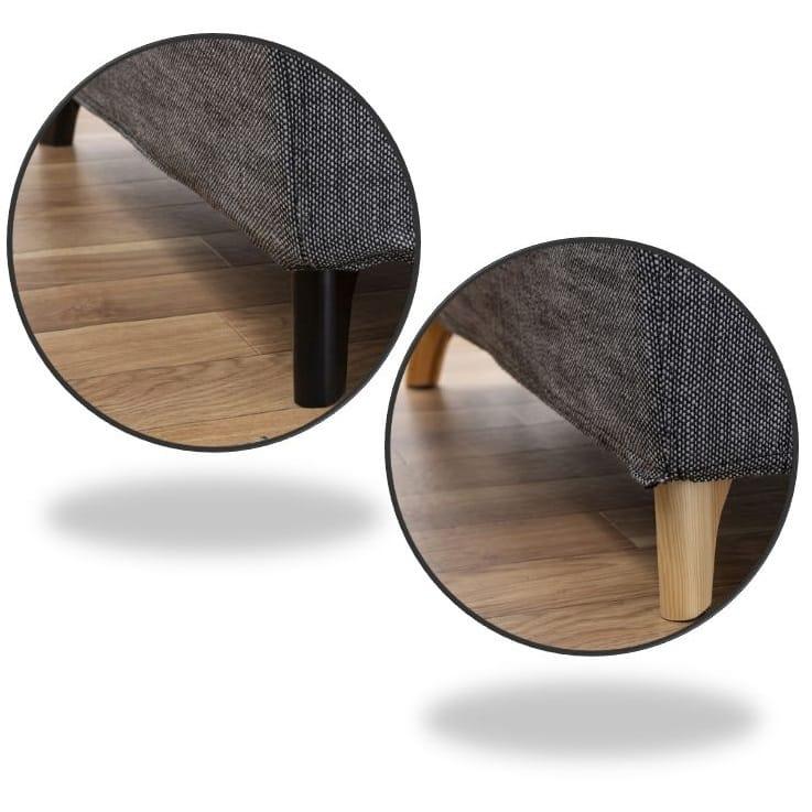 3人掛けソファー +style フィール(シルバーブラック/BR脚):選べる脚は2色から