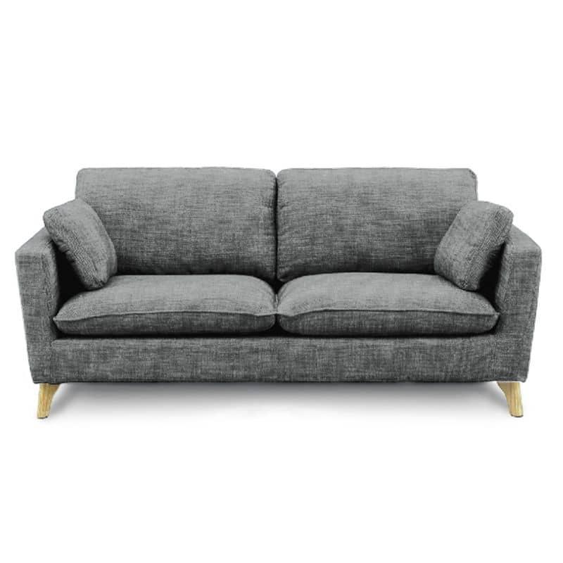 3人掛けソファー +style フィール(シルバーブラック/NA脚):シンプルでスタイリッシュなデザインソファー