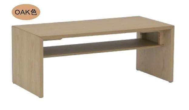 リビングテーブル ウッドグレイン グルービ105CT OAK:シンプルでスタイリッシュ