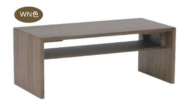 リビングテーブル ウッドグレイン グルービ105CT WN:シンプルでスタイリッシュ