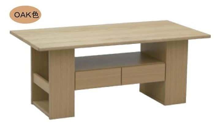 リビングテーブル ウッドグレイン マキシ110CT OAK:リビングテーブル