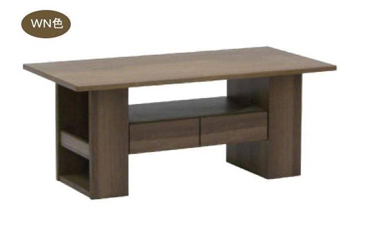 リビングテーブル ウッドグレイン マキシ110CT WN:リビングテーブル