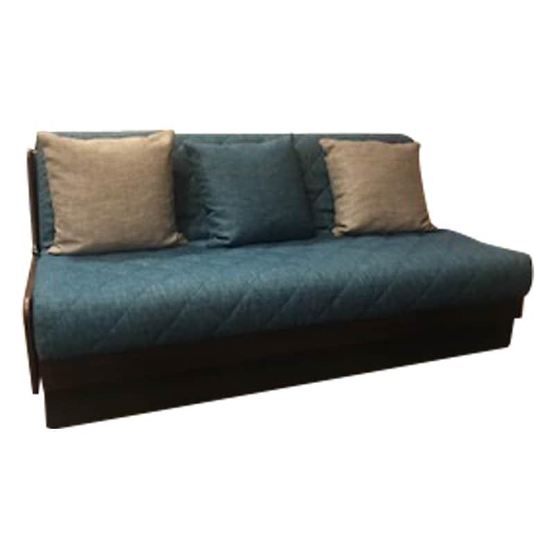 ソファベッド ドロシー 160 フレーム:BR/ファブリック:ブルー:《みんなでごろごろしてほしい「ごろ寝ソファー:ドロシー」》