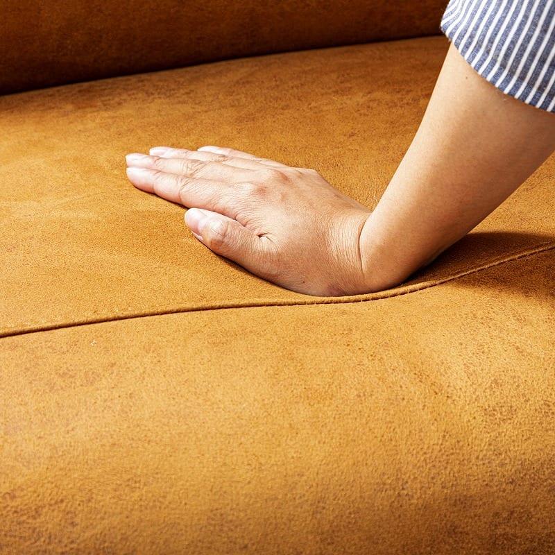 パーソナルチェア エレナ キャメル:座面にはウレタンフォーム+ポケットコイルを使用
