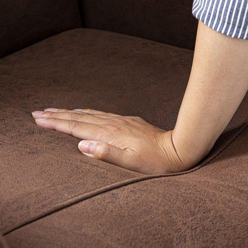 パーソナルチェア メンテ マロンブラウン:座面には高密度ウレタンフォームを使用
