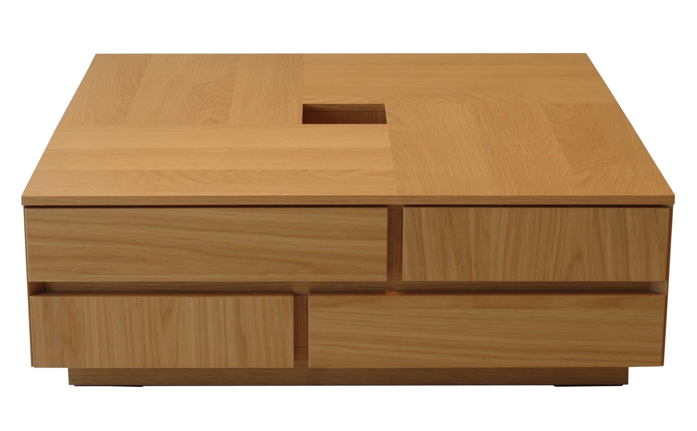 リビングテーブル アトリ 80(オーク):リビングテーブル