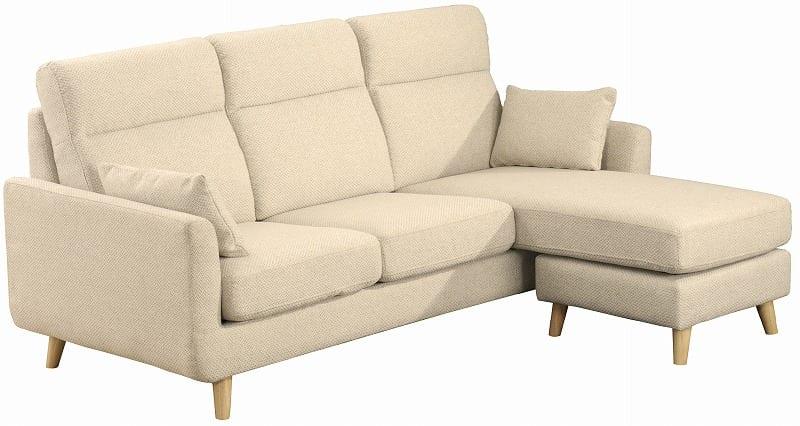 組みかえ型シェーズロングソファー ヨーク 張地IV・脚NA:ソフトな掛け心地のソファ