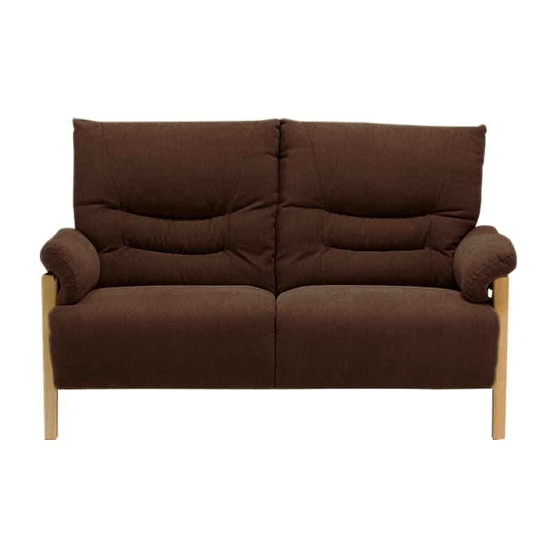 2人掛けソファー ミューク ブラウン:ベーシックで落ち着いたデザイン