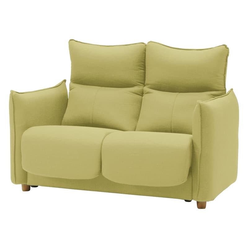機能付2人掛けソファー フランセ2P GN:背もたれや肘、枕の傾きが変えられる、多機能ソファーです。