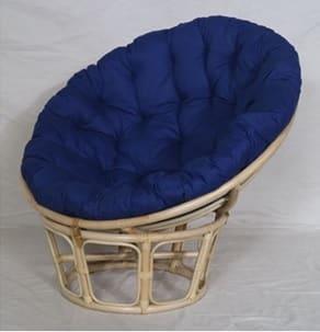 1人掛けソファ パパサンチェア M 01−0594−FS NA/ブルー:包まれるような座り心地のリラックスチェア
