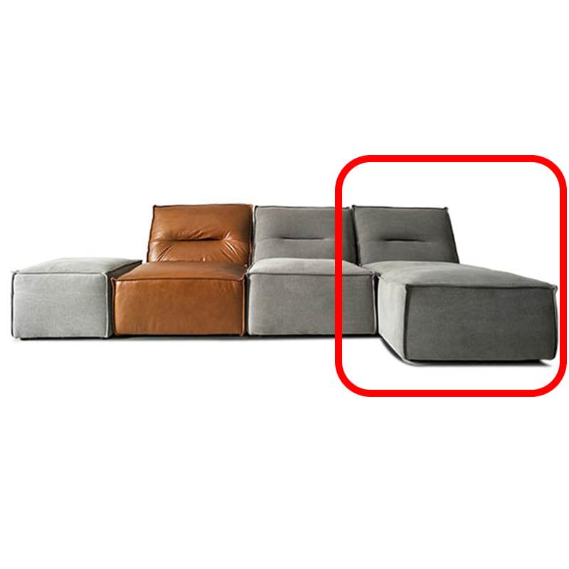 シェーズソファ CUBE2 COUCH ファブリックBR(rank:B/KW-8711-1):※シェーズソファ(ファブリックBR色)の単品販売になります。