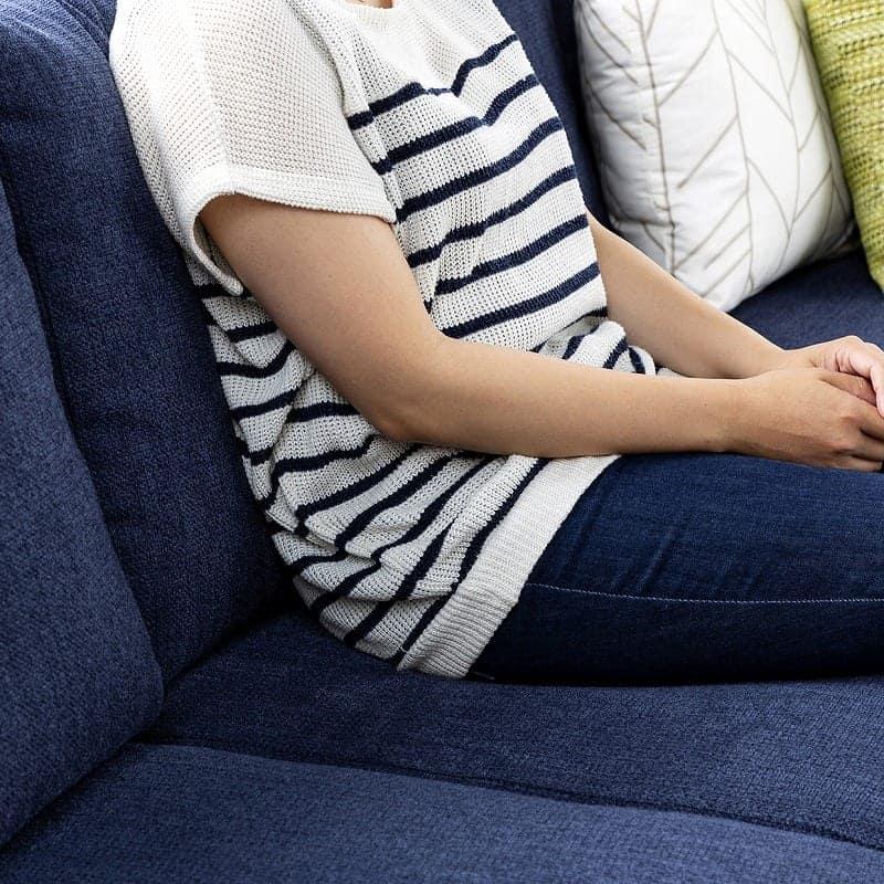 2人掛けソファーLENO 2P NB:ポケットコイルで安定した座り心地