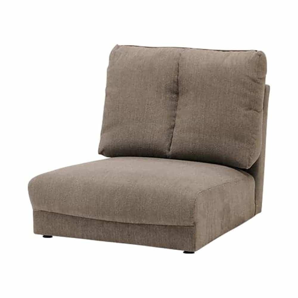 1人掛けソファー LENO 1P GRY:本格的な座面構造で仕上げ、座り心地を追求し仕上げました。