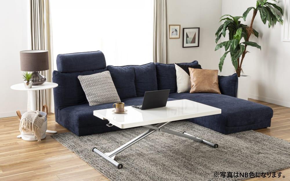 1人掛けソファー LENO 1P GRY:自分だけのソファを作ろう!