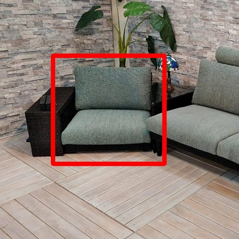 リベール 1人掛ソファー 01−0537−FS SB:ロースタイルから一般的な高さまで、高さが変えられるソファー
