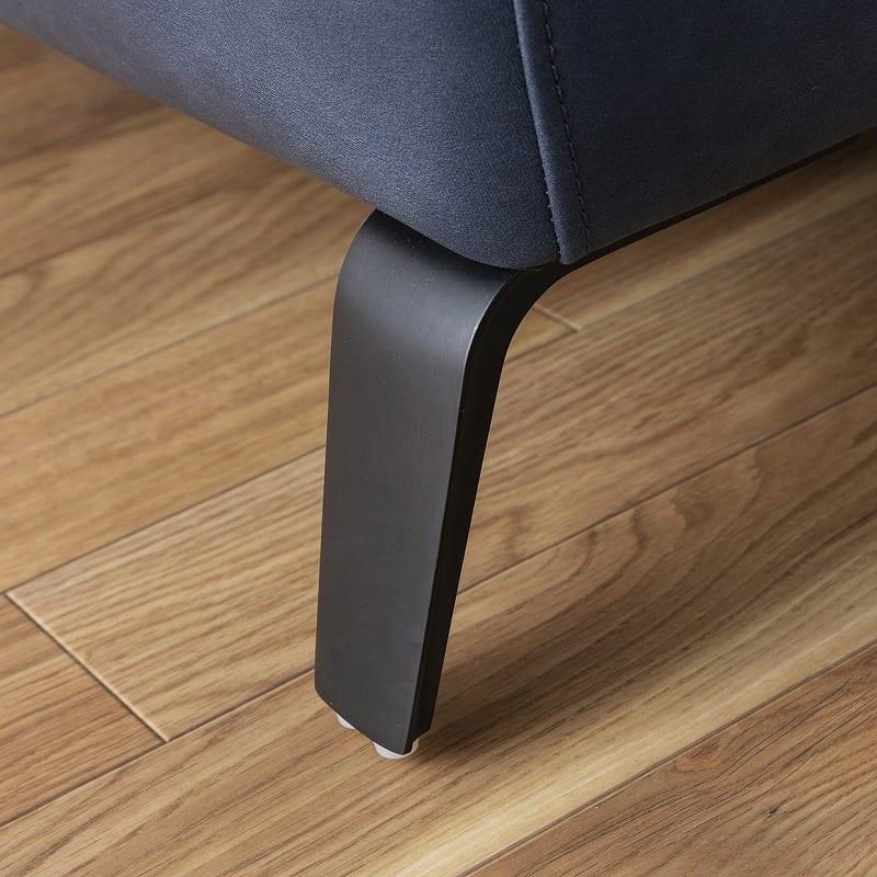 2.5人掛けソファ ベリーニ ディープブルー:脚が特徴的