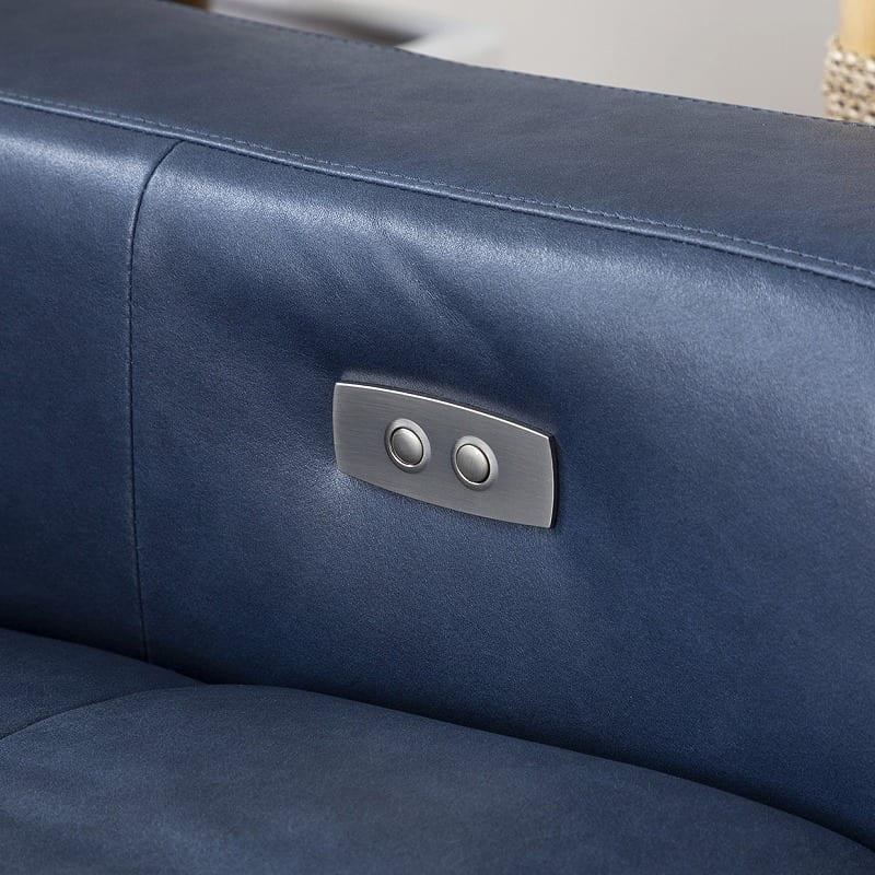 3人掛けソファ ベリーニ ディープブルー:ボタン調節で簡単★