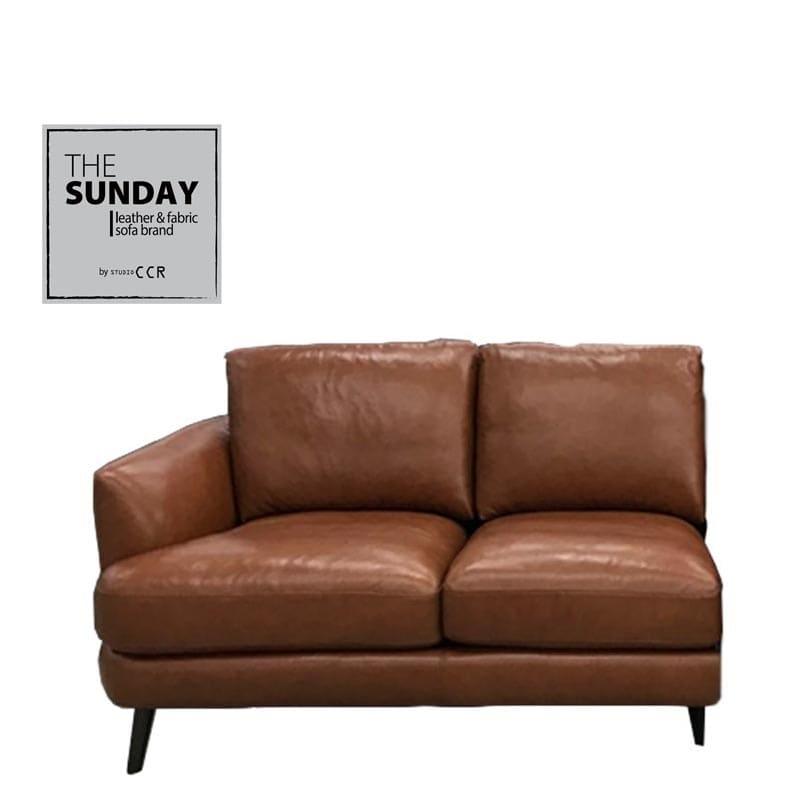 片肘2人掛けソファ マーキュリー 向かって左 DB脚 TOー376E:◆コーナー使いができる、総革張りの高級感あふれるソファー