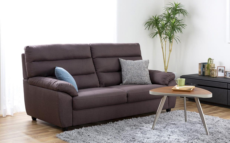 3人掛けソファー ファーゴ 3S BE:ハイバックの座り心地を体感してください