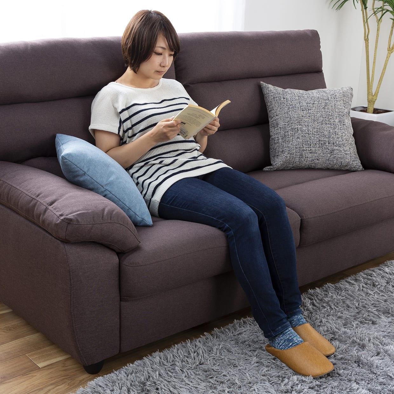 3人掛けソファー ファーゴ 3S BE:ハイバックがあなたを包み込む