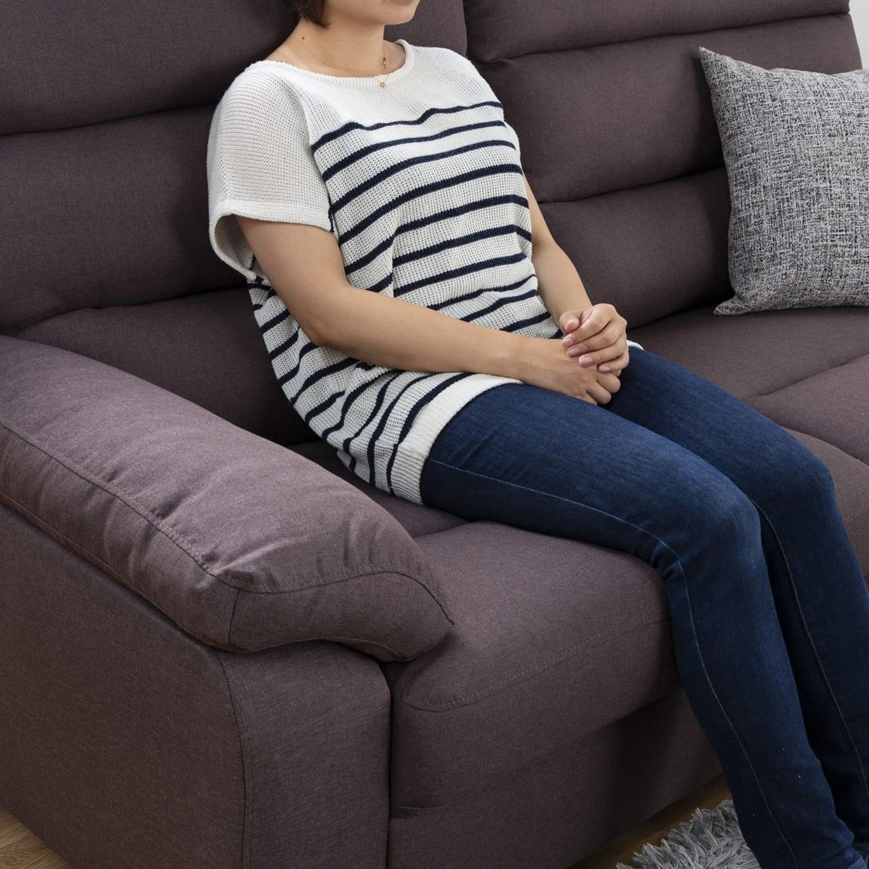 3人掛けソファー ファーゴ 3S BE:安定した座り心地