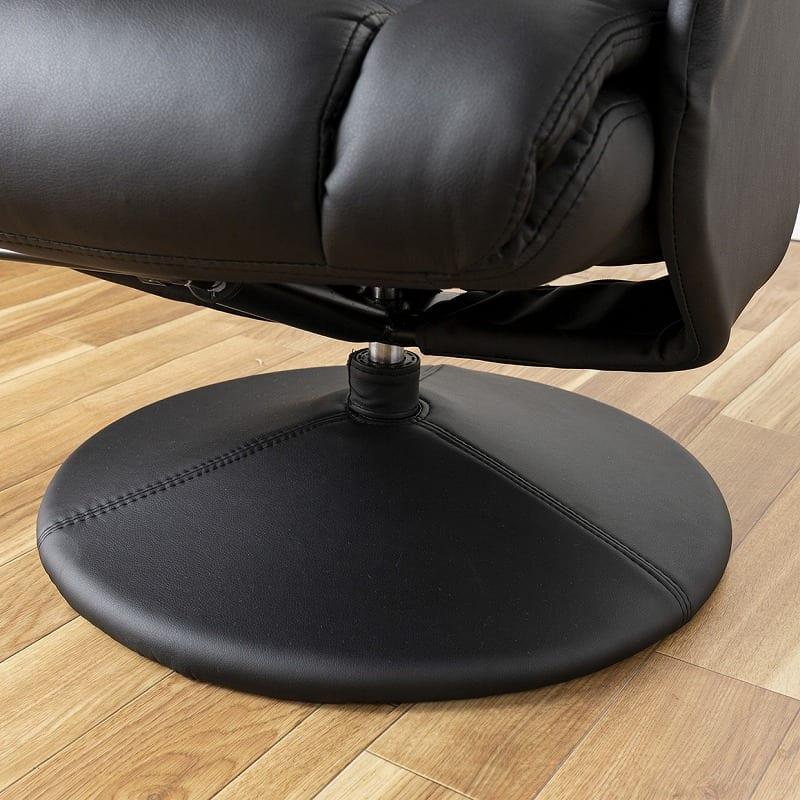 パーソナルチェアー デンバー BK:安定感のある脚部