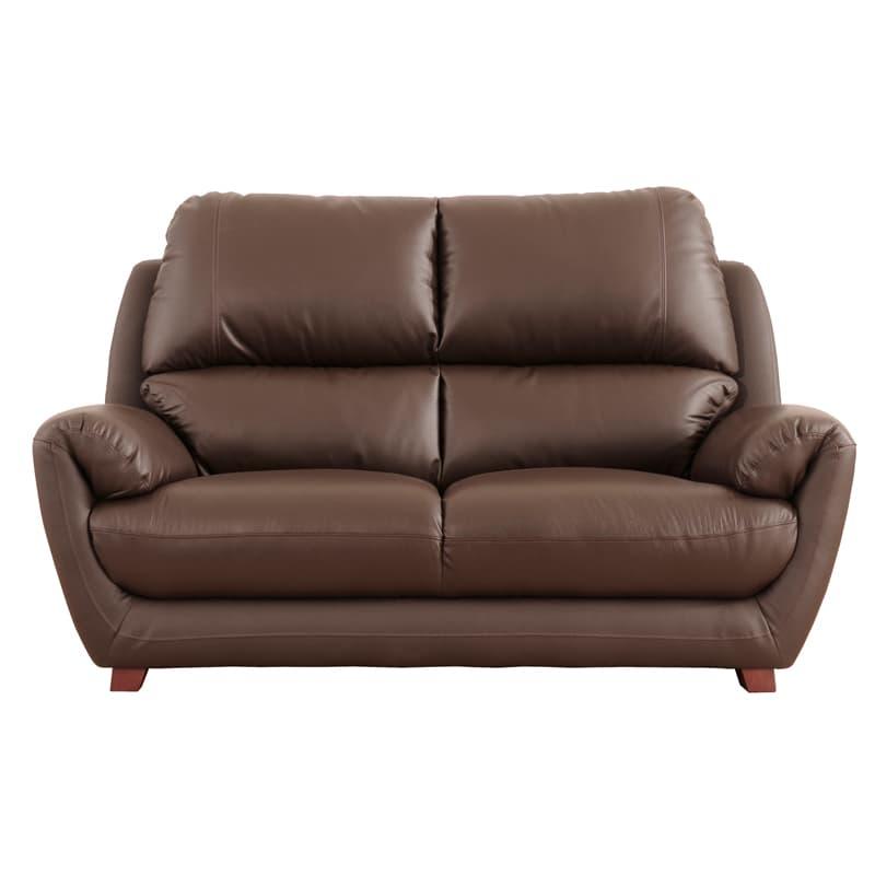 2人掛けソファ デビュー072 2S DBR:人気のソファー「デビューシリーズ」。狭い搬入口でも搬入しやすいKD仕様。